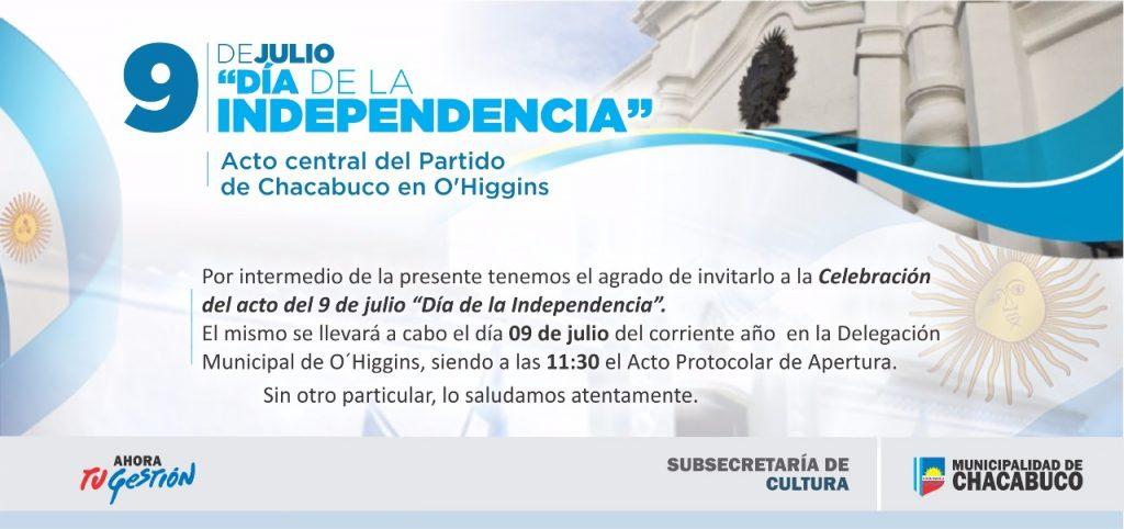 El Día De La Independencia Se Celebrará En O Higgins